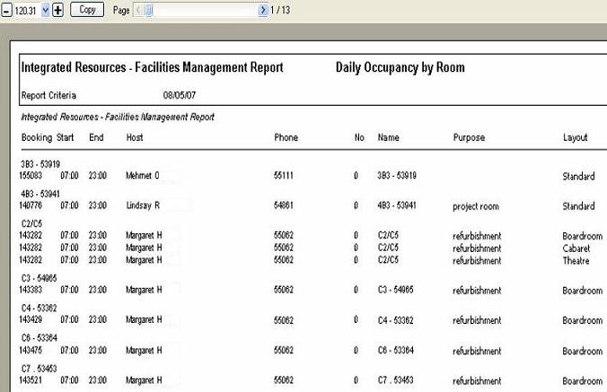 resourcebooking – Daily Financial Report